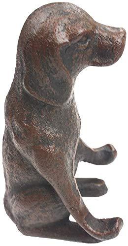 Lulu Decor, 100% Cast Iron Decorative Dog Statue Cell Phone Holder (Cell Stand) Dog Cell Phone Holder