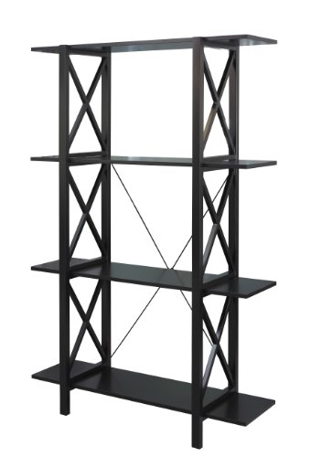 Linon Home Dcor 86110C124-01-KD-U Linon Home Decor Anna Double Bookcase, 47.5