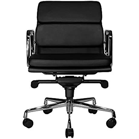 WOBI OFFICE Clyde Lowback Chair Black Leather