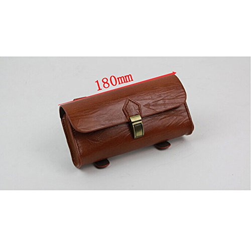 GOODKSSOP Cool Handmade Retro Classical PU Leather Bike Bicycle Saddle Bag Tail Rear Pouch Seat Storage Bag Small Objects Box Cycling Case