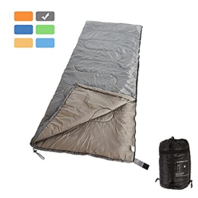 RUBEDER Sleeping Bag - Lightweight Portable, Waterproof, Comfort With Compression Sack - Great For 3 Season Traveling,Camping,Hiking Sleeping Bags