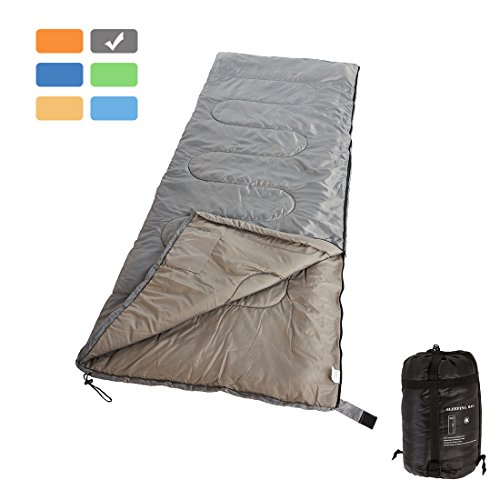 RUBEDER Sleeping Bag Lightweight Portable Waterproof Comfort With Compression Sack Great For 3 Season TravelingCampingHiking Sleeping Bags