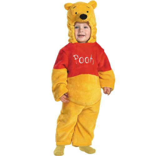 Winnie The Pooh Deluxe 2-Sided Plush Jumpsuit Costume - Medium (3T-4T) ()