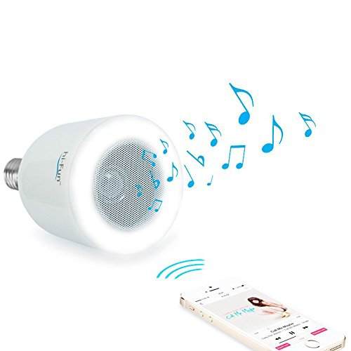 Bluetooth LED lightbulb with built-in speaker that transforms a simple lamp in a Bluetooth stereo source. It works like a bulb, but it surprises like a stereo. Smartphone controlled. Works with iphone, android phone, and tablet For Sale