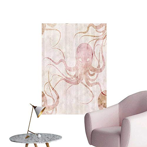 Wall Decals Grunge Soft Ted Scarry Sea Mster Octopus with Danger Eyes Environmental Protection Vinyl,28