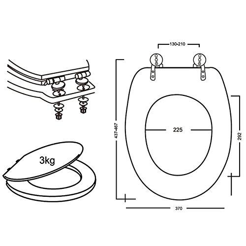 Legno FERIDRAS 183004-B Copriwater 5x37x45 cm Noce
