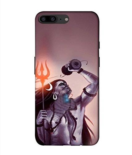 PrintVisa Designer Back Case Cover for One Plus 5  Lord Shiva Principal Deities Hinduism