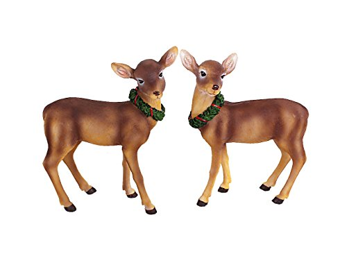 YK Decor 2 Assorted Reindeer Garden Décor Wall Shelf Sitter Figurines For Sale