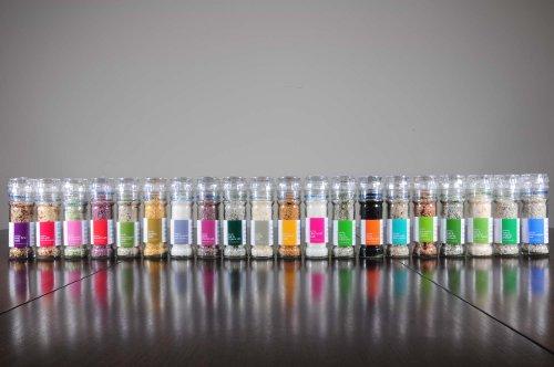 Salt 424 Three Grinder Pack 100% Organic Salts, Diamond, Black Pepper and Wild Fire, 25.11 Ounce