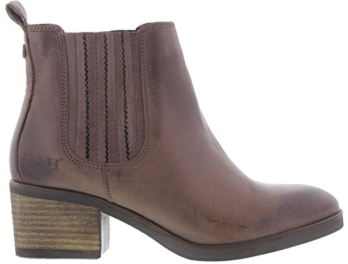 Oak & Hyde Lady Chelsea Womens Heeled Ankle Boots Bangalore Brown