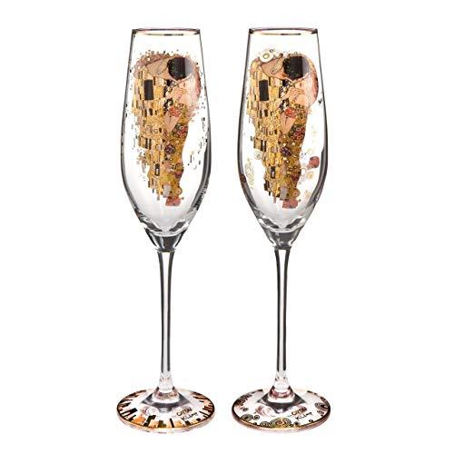 Gustav Klimt The Kiss Limited Edition Set of 2 Champagne Flutes 66926261