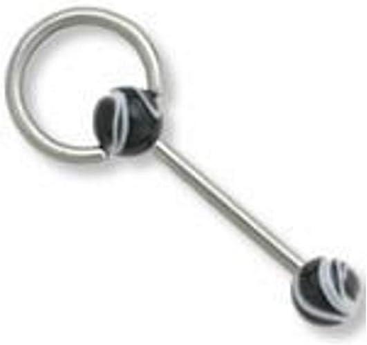 14G 5//8 Metal Doorknocker Straight Barbell