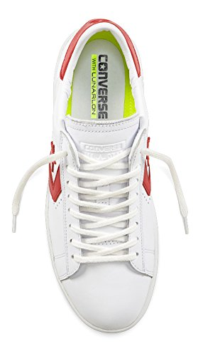 LP Sneakers Pelle rosso Converse Bianco Bianco Leather Ox Donna Leather Pro 00ZYftq
