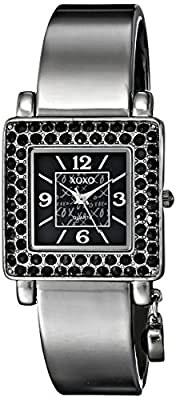 XOXO Women's XO1018 Black Dial Gun Metal Bangle Watch