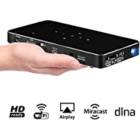 Mini Projector, iXunGo P1 DLP Pico Video Projector Support Full HD 1080P, HDMI & WIFI Wireless Connectivity, Ultra-Portable Size & 120 Display, Support HDMI Input/ WiFi/ USB/ TF Card