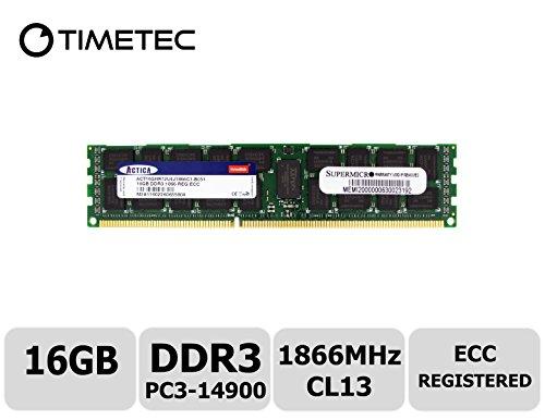 Timetec SUPERMICRO 16GB DDR3 1866MHz PC3-14900 Registered ECC 1.5V CL13 2Rx4 Dual Rank 240 Pin RDIMM Server Memory RAM Module Upgrade (16GB)
