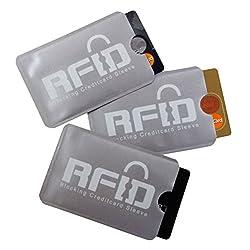 e4b8ab2094 1 radio copertura chip RFID SET (3 x) Carta; Design Ultrasottile &  Flessibile che si adatta ad ogni portafogli: Scelta n°1 per Prevenire furto  di Identità, ...