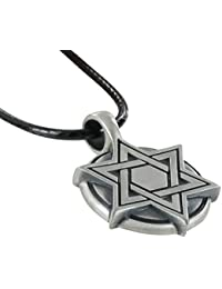 Star of David Medallion, Special Jewish Necklace, Including a Free Black Choker, By Bico