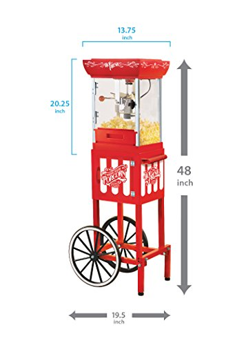 082677136060 - Nostalgia CCP399 48-Inch Tall Vintage Collection 2.5-Ounce Kettle Popcorn Cart carousel main 3