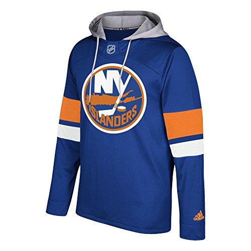 adidas NHL New York Islanders Mens Silver Jersey Hoodsilver Jersey Hood, Blue, 3X-Large