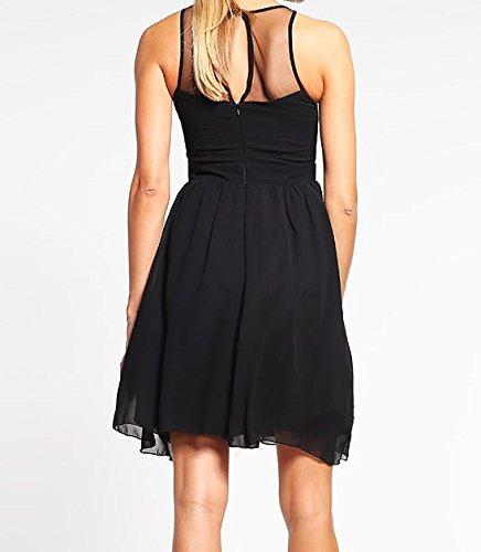Kleid 42 Damen Kleid Festliches Schwarz Cocktailkleid Mistress Little Gr 7wR4qO1