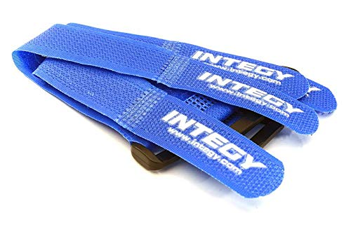 Integy RC Model Hop-ups C27935BLUE 20x200mm Battery Strap (4) for RC Car, Boat, Helicopter & Airplane