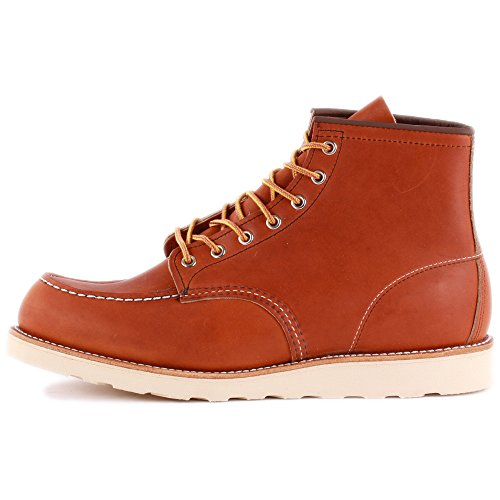 3 9 Tan Boot Inch 6 Leather Red 00875 Boots Mens Laced Wing XqHxA