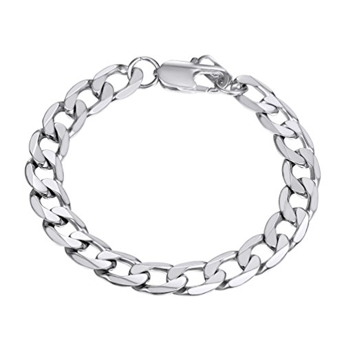 Chain Wristband - PROSTEEL Stainless Steel Chain Bracelets Trendy Stacking Layering Curb Chain Cuban Link Bracelet Men Women Jewelry
