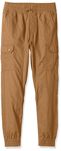 Elastic Cuff Pants (Southpole Big Boys' Ripstop Cargo Jogger Pants, Wheat, Large (14/16))