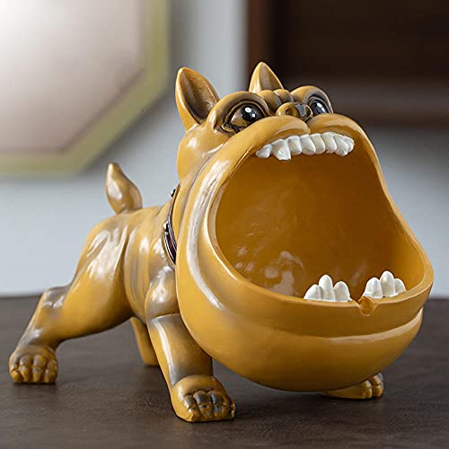 Asbak Home Fighting Dog Tobacco Persoonlijkheid Trend Card Flip Flops Dog – Olive Yellow 20,8 x 10,8 x 14,3 cm