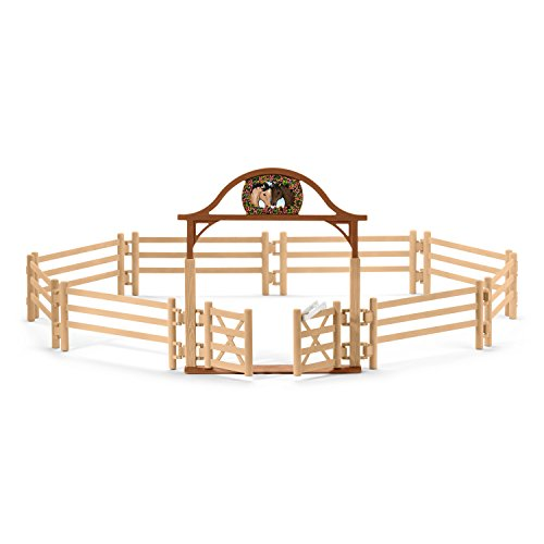 Schleich Paddock with Entry Gate Play Set, - Fence Corral