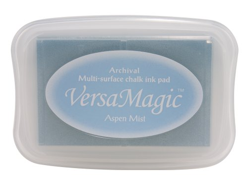 Ink Stazon Gray - Tsukineko Full-Size VersaMagic Chalk-Finish, Aspen Mist