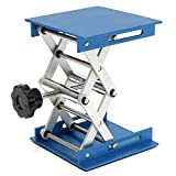 "Laboratory Scissor Lifting Platform,BOFEISI Lab Stand Jack Aluminum Oxide 4"" X 4"" Max Height 5.7"", Min Height 1.6"", Maximum Stable Weight 6.6Lbs"