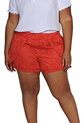 Limit 33 Plus Size Juniors Teens Stretchy Lace Crochet Shorts Cute Sexy Casual
