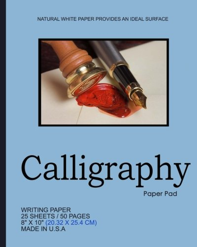 "Calligraphy Paper Pad: Sky Blue Cover,Notepad, 8"" x 10"",20.32 x 25.4 cm, 50 pages, Soft Durable Matte Cover pdf epub"