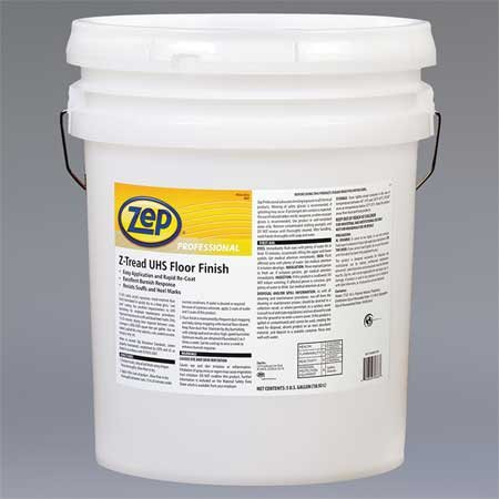 Floor Finish 5 Gallon Pail - Zep Professional R03635 Z-Tread UHS Floor Finish, Mild Fragrance, Opaque/White (Pail of 5 Gallons)