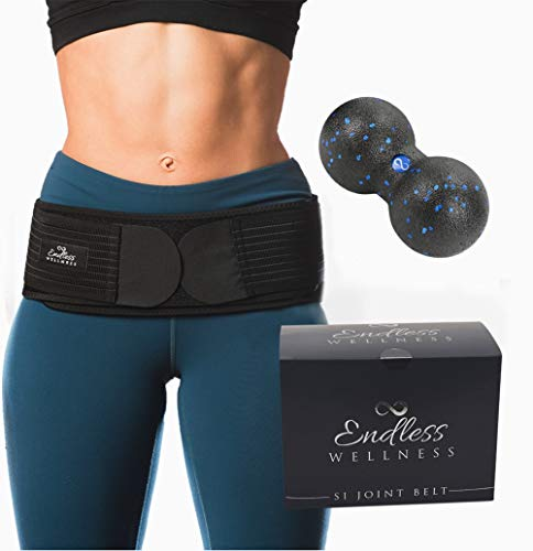 - Si belt - Lower Back Support Belt for Women and Men - Stabilizes and Relieves Pelvic and SI Joint Pain *BONUS BUNDLE DUAL MASSAGE BALL + E-BOOK* Discreet Fit Sacroiliac Belt and Lower Back Hip Brace !