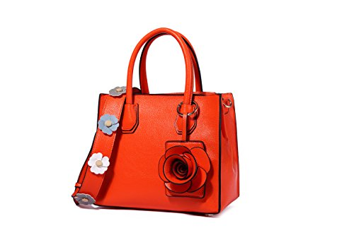 Flower Handle Portable Purse Tote Crossbody Satchel Handbag Top Bags Orange Shoulder Ruiatoo t5wZ7q1a
