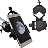 Photo : Gosky Universal Cell Phone Adapter Mount - Compatible Binocular Monocular Spotting Scope Telescope Microscope-Fits Almost All Smartphone on The Market -Record The Nature The World