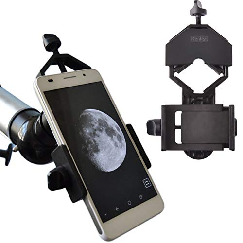 Gosky Universal Cell Phone Adapter Mount - Compatible Binocular Monocular Spotting Scope Telescope Microscope-Fits almost all Smartphone on the Market -Record The Nature The World (Camera Mount For Telescope Meade)