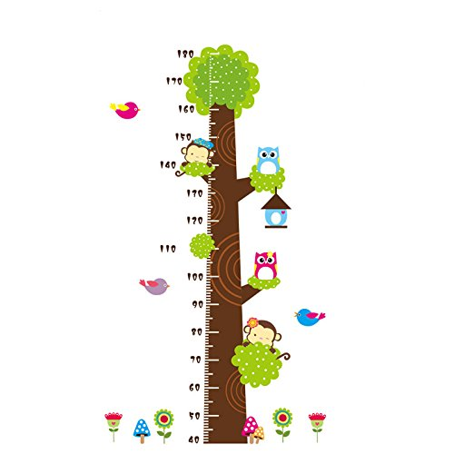 HongXander Fashion Monkey Height Chart Kids Wall Art Stickers Wall Decals Graphics (B)