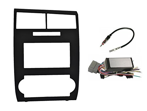 - Radio Stereo Car Install Double Din Navigation Black Bezel + Can Bus Factory Amplified Systems Radio Replacement Wire Harness Antenna Adapter Fitted For Dodge Charger 2006 2007 Dodge Magnum 2005-2007
