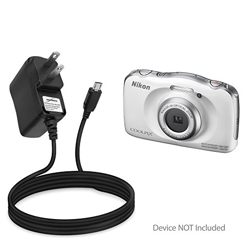 BoxWave Nikon Coolpix S33 Charger, [Wall Charger Direct] Wall Plug Charger for Nikon Coolpix S33