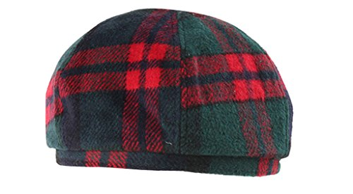Tidecloth Women's No Brim Adjustable Cuff Plaids Simple Beret Hat Red One Size