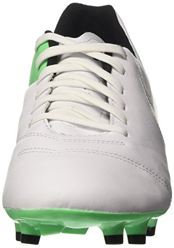 NIKE Men's Tiempo Genio II Leather FG Soccer Cleat White/Black/Electro Green clearance collections sale low cost recommend for sale buy cheap 2014 newest MnpxD9
