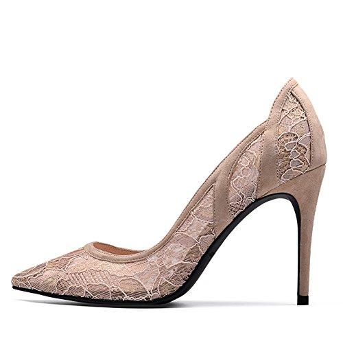 Las Zapatos Tacones Cordón asakuchi Tacones De Talones Del Señoras Altos señaló De Bbdsj Manera La Finos B Sexy Tacón gR1wg