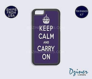 iPhone 6 Case - 4.7 inch model - Keep Calm Carry On Purple iPhone Cover