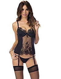 Escante Women's Night Reflections Bustier with Hose