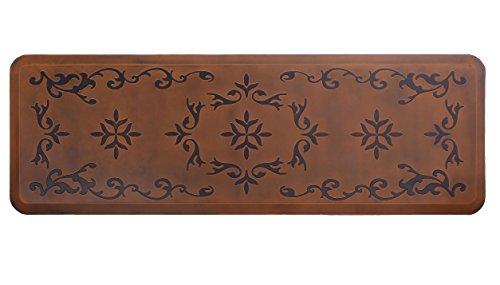 (Licloud Kitchen Mat Long Anti-fatigue Mat Comfort Floor Mat Non-toxic Mat, 24 x 70 Inches, Antique Light Flower )