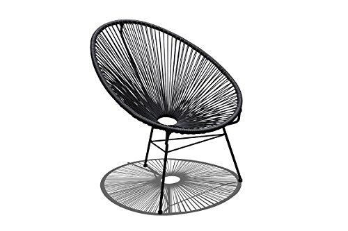 Harmonia Living Acapulco Patio Chair in Jet Black